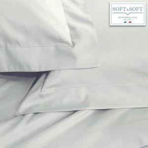 SOFT MAXI Completo Lenzuola Misura MATRIMONIALE KING cm 200X200+35 Grigio