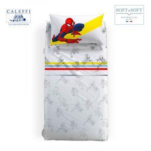 SPIDER-MAN COLORS completo lenzuola PIAZZA E MEZZA Marvel CALEFFI