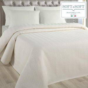 SPINA copriletto SINGOLO in tessuto jacquarde matelassè cm 170x260