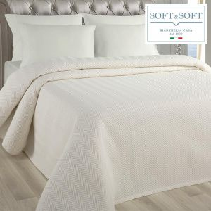 SPINA DOUBLE bedspread in matelasse jacquard fabric 260x260 cm