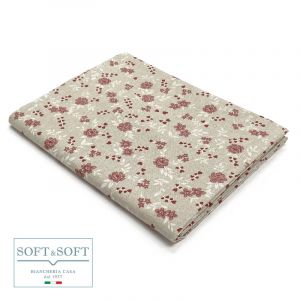 TROPEA FIORI Tablecloth in Resinated Fabric for 12 cm 140x250