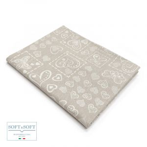 TROPEA HEARTS Tablecloth in Resin Fabric for 12 cm 140x250