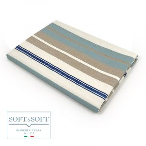 TROPEA SPINA Tablecloth in Resinated Fabric for 12 cm 140x250
