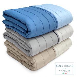 TWIST microfiber double quilt bedspread 260x260