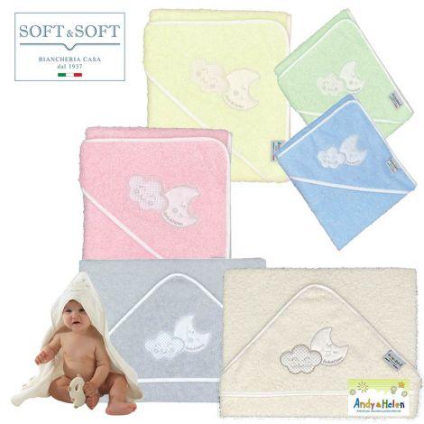 TEDDY D34 accappatoio neonato Baby triangolo 75x75 Spugna di Cotone