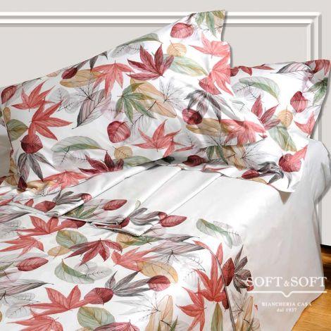 ACERO lenzuola letto matrimoniale con balza in Raso - bianco