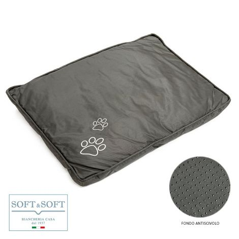 ADVENTURES Dog / Cat Cushion Padded in Waterproof Canvas 60x78 cm