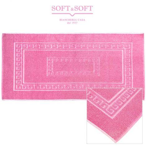 ALADIN tappeto bagno 58x120 cotone made in Italy-Rosa