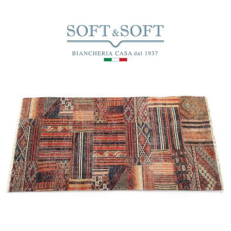AMBIENTE tappeto in cotone riciclato con fondo antiscivolo LI02