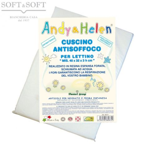 Anti chocke Pillow for cot by Andy & Helen