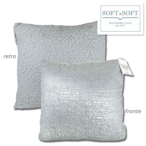 LUREX Apollo foderina cuscino arredo cm 50x50 argento
