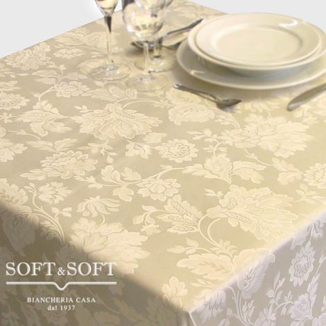 ARABESQUE PANNA fabric by the meter h 330 for tablecloths