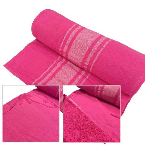 BALI telo mare in micro spugna colore rosa fuxia