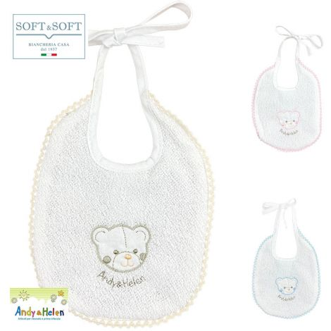 BABY BIB embroidery cm 18x20 in pure cotton terry