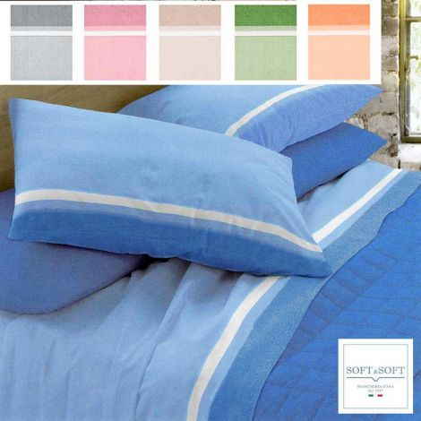 BELEN Sheet set for double bed solid color made in Italy