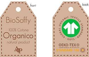 ORGANIC COTTON towel set 1 + 1 high quality gr. 500 - BioSoffy