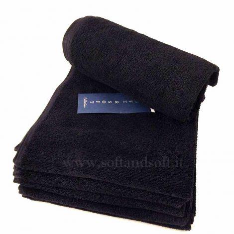 BLACK asciugamani neri cm 50x90 puro cotone
