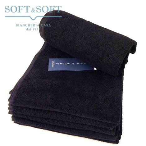 BLACK asciugamani Neri cm 50x90 (Pacco da 6 Pezzi) Colori Solidi Indanthrene