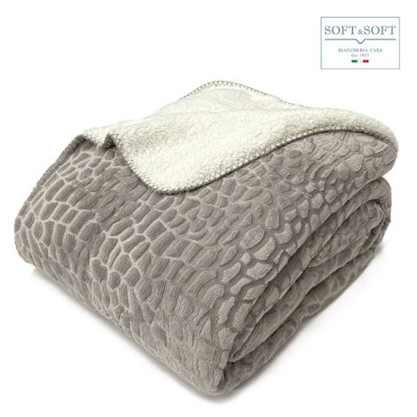 BOA plaid blanket single measure 150x210 cm very warm and enveloping