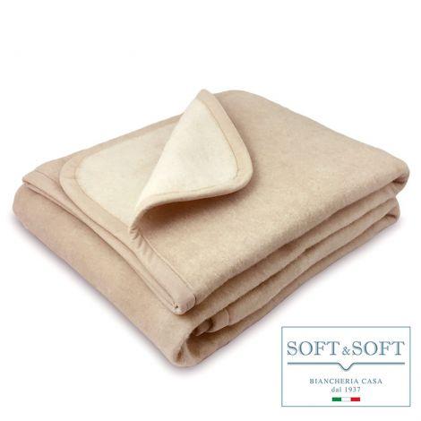 RIDGE wool blend blanket single bed cm 150x210