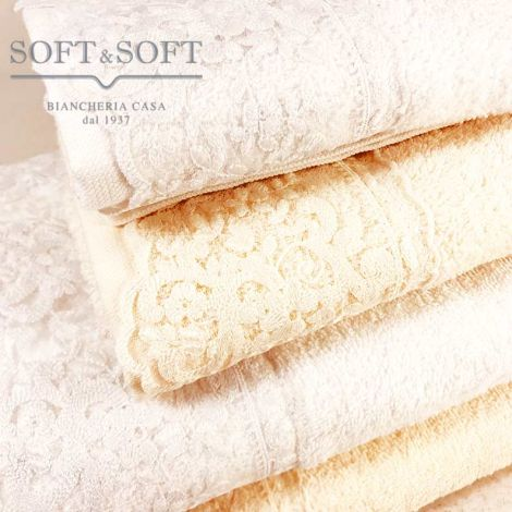 Bruges house sponge towels with 1 + 1 lace set