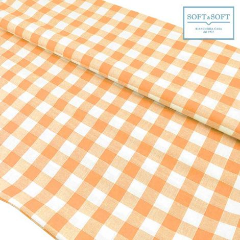 CAMPAGNOLA Fabric by the meter in Pure Cotton 140 cm ORANGE