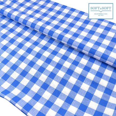tessuto quadretti blu