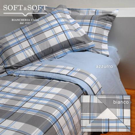 CARDIFF Sheet Set for THREE-QUARTER Bed in Cotton Flannel