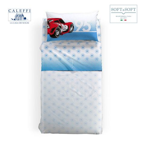CARS 95 sheet set for SINGLE size Disney CALEFFI Light blue