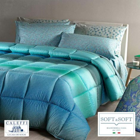 CHAMONIX Winter Quilt measures SQUARE AND HALF 220x265 CALEFFI Bluette