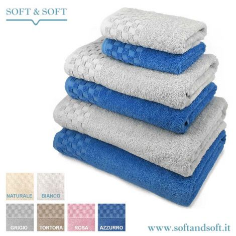 CHECK SET TOWELS in pure cotton (CUSTOMIZABLE)