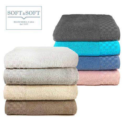 Check Bath Towel cm 100x150 500 gr/sm