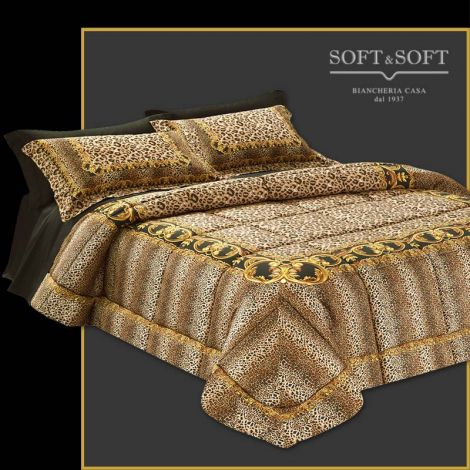 CLEOPATRA quilt for double bed 270x270 300 threads satin cotton fabric GFFERRARI