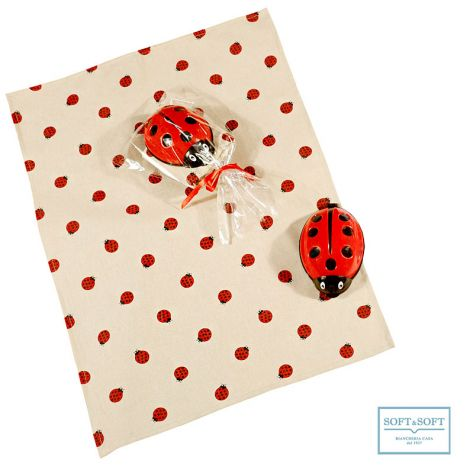 Ladybug crumb collector set with dishcloth