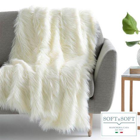 Cocon plaid rug double ecological fur 210x240 cm