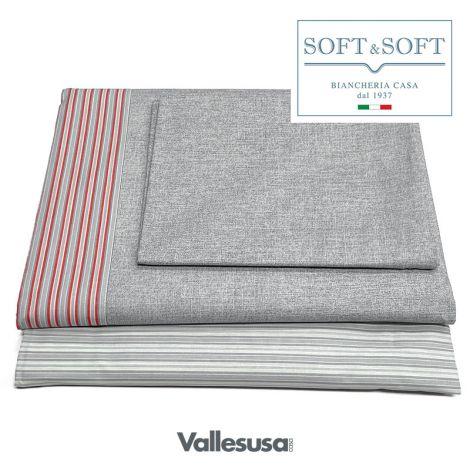 CONFIDENT completo lenzuola SINGOLO stampato VALLESUSA-Grigio