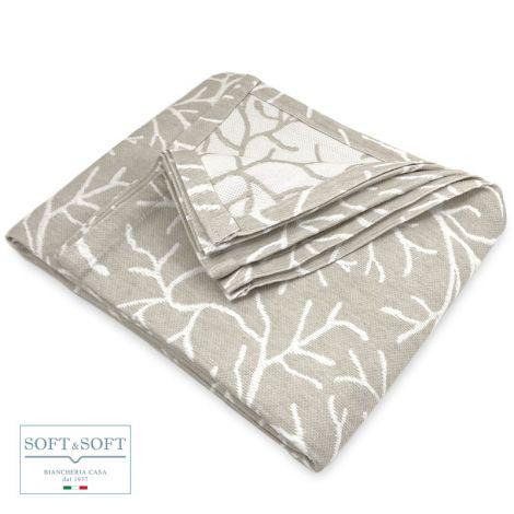 CORAL copriletto singolo in tessuto jacquard matelassè cm 170x260 Naturale