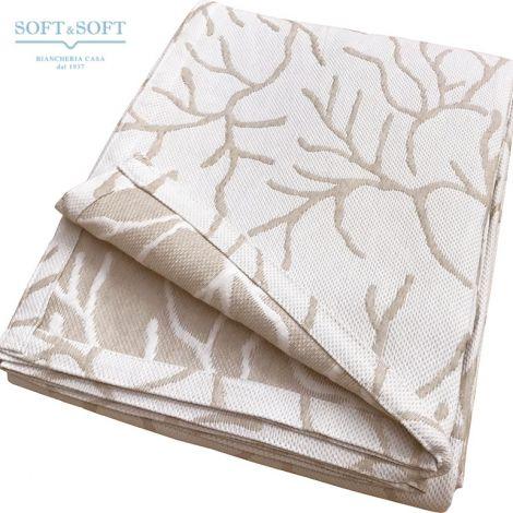 CORAL copriletto singolo in tessuto jacquard matelassè cm 170x260