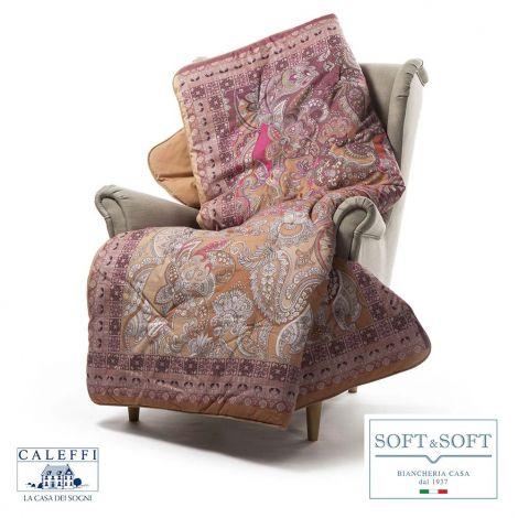 CORTINA Scaldotto/Plaid Imbottito Caleffi cm 130x170 Corallo