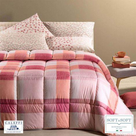 COTTAGE Winter Quilt SINGLE size 170x265 CALEFFI Corallo