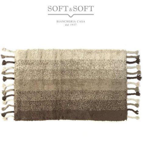 Cotton melange tappeto cm 50x80 in cotone per cucina bagno camera -Beige