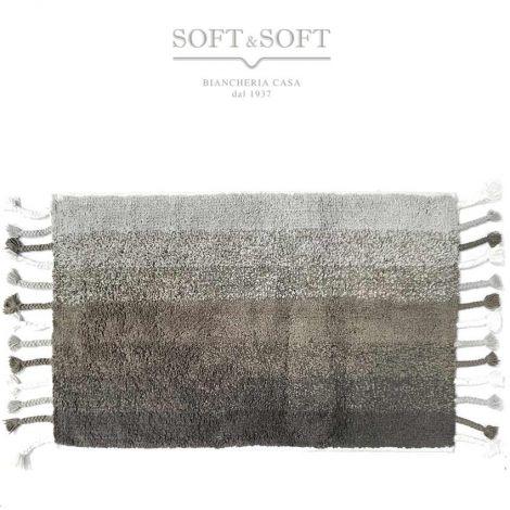 Cotton melange tappeto cm 50x80 in cotone per cucina bagno camera -Grigio