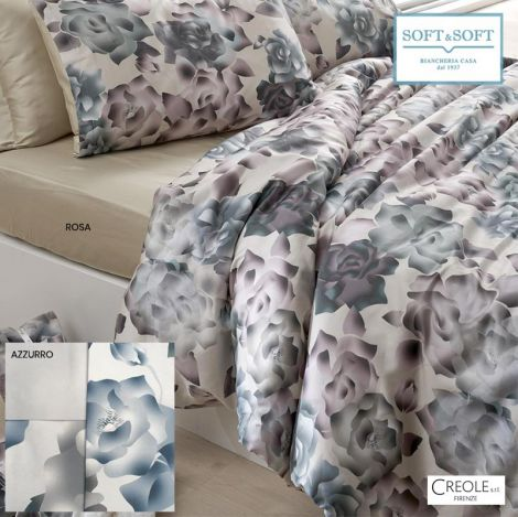 CRISTEL duvet cover set for DOUBLE BED pure cotton satin