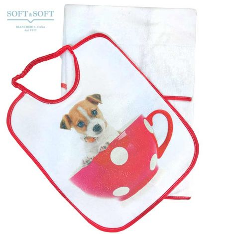 Bib and towel set for kindergarten children Pet