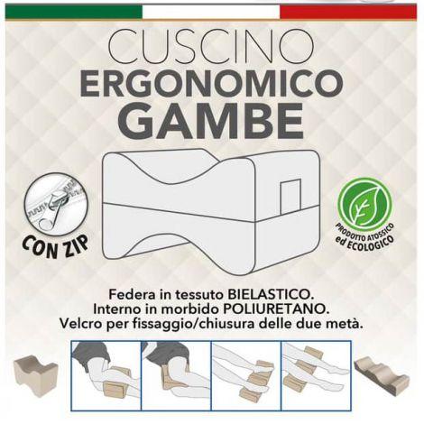 Cuscino ergonomico gambe Made in Italy atossico ecologico con velcro