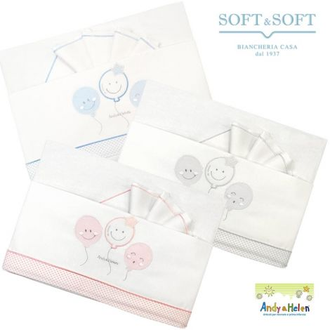 BALLOONS D27 Sheet set for Andy & Helen cradle / pram