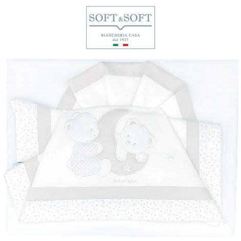 ORSETTI D51 Embroidered Bed Sheets Set with Banks - Cream