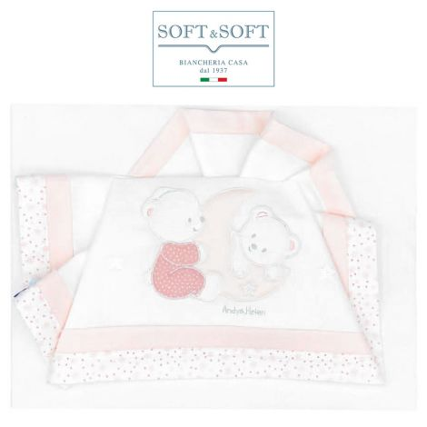 ORSETTI D51 Embroidered Bed Sheet Set with Rails - Pink