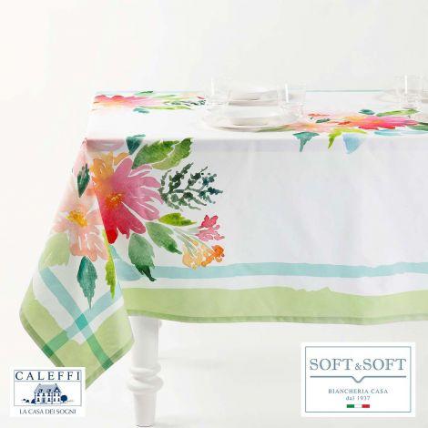 DALIA kitchen tablecloth 150x240 cm in pure cotton