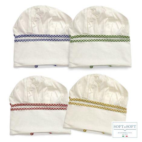 DAMA cappello cuoco regolabile in puro cotone 100% MADE IN ITALY
